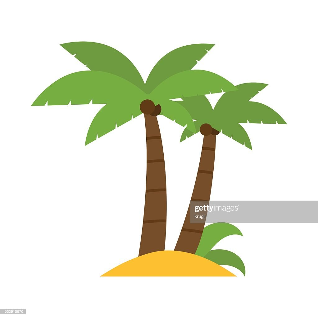 Vector Palm Group Illustration
