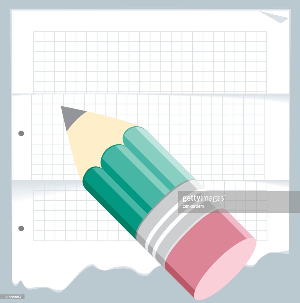 Vetor de papel e lápis : Ilustração
