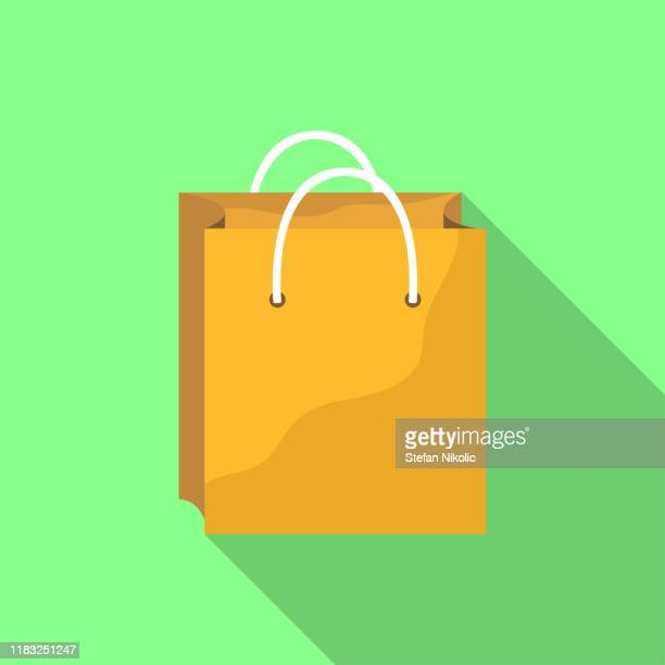 vector paper brown bags stock illustration - paperboard stock illustrations