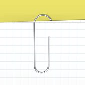 Vector Paper Clip Isolated on White Sheet Background