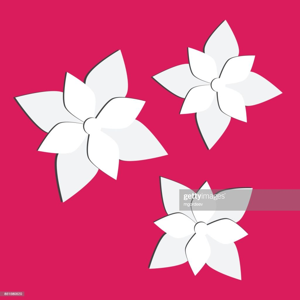 Vector Paper Flowers Set 3d Origami Abstract Flower Vector Vector
