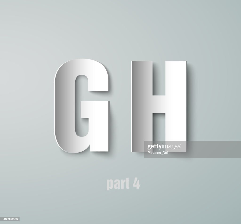 Vector Paper Graphic Alphabet G H