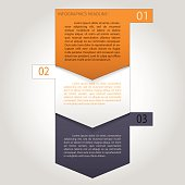 vector paper progress steps for tutorial