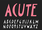 Vector papercut uppercase alphabet.