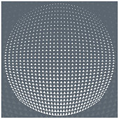 Vector pattern grey and White triangle Halftone circle  grid gradient geometric abstract