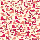 vector pattern  of fashion  Footwear-illustration