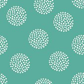 vector pattern of hand drawn dots.
