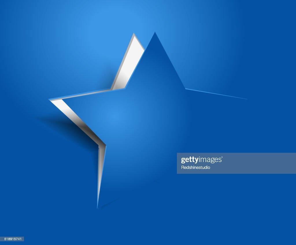 vector peel off star