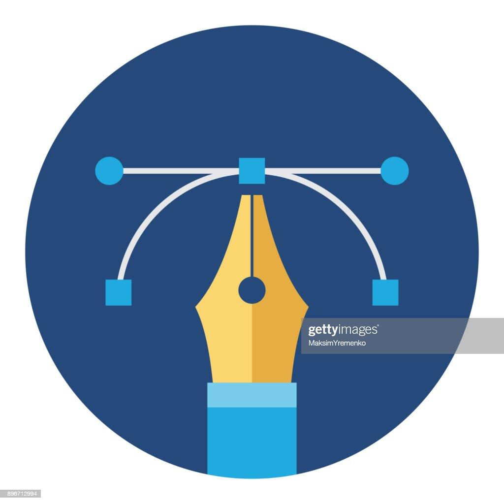 Vector pen tool. Graphic design icon