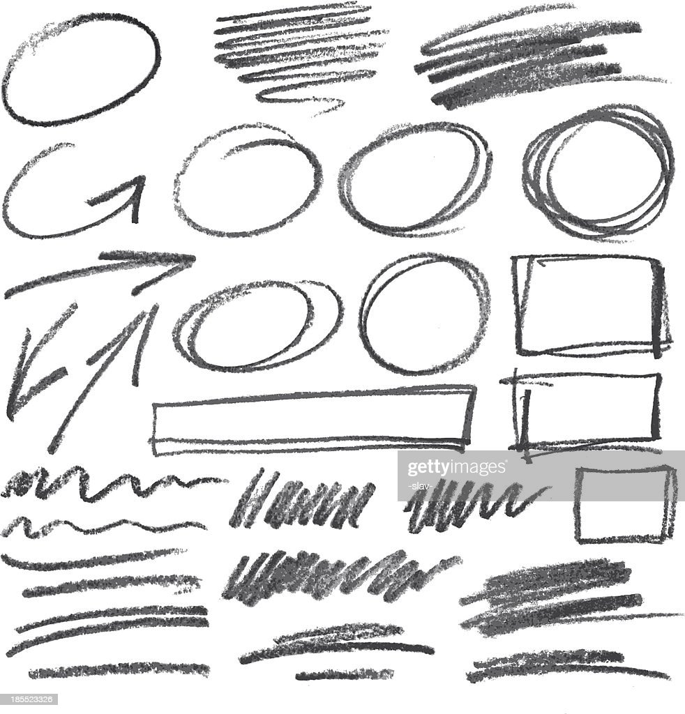 vector pencil design elements