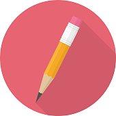 Vector pencil icon.
