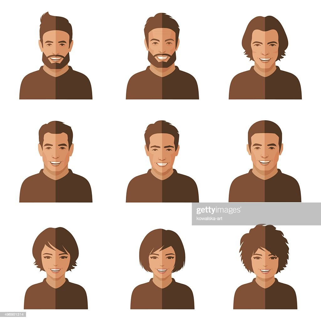 vector people faces