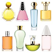 Vector Perfume Icons Set 2