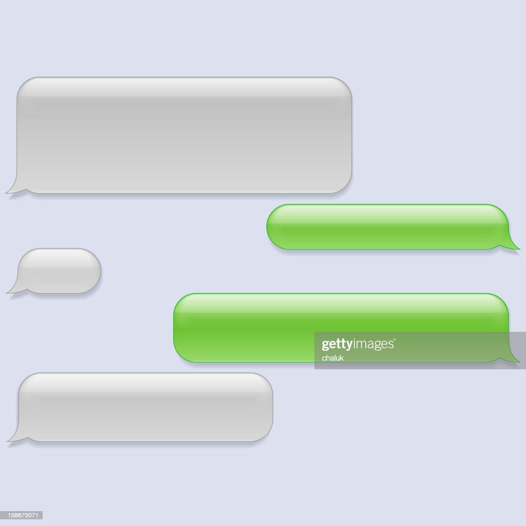 Vector phone chat bubbles