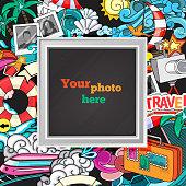 Vector photo frame concept