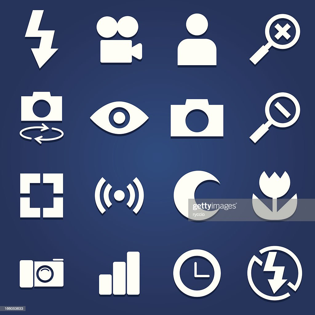 Vector photography icons