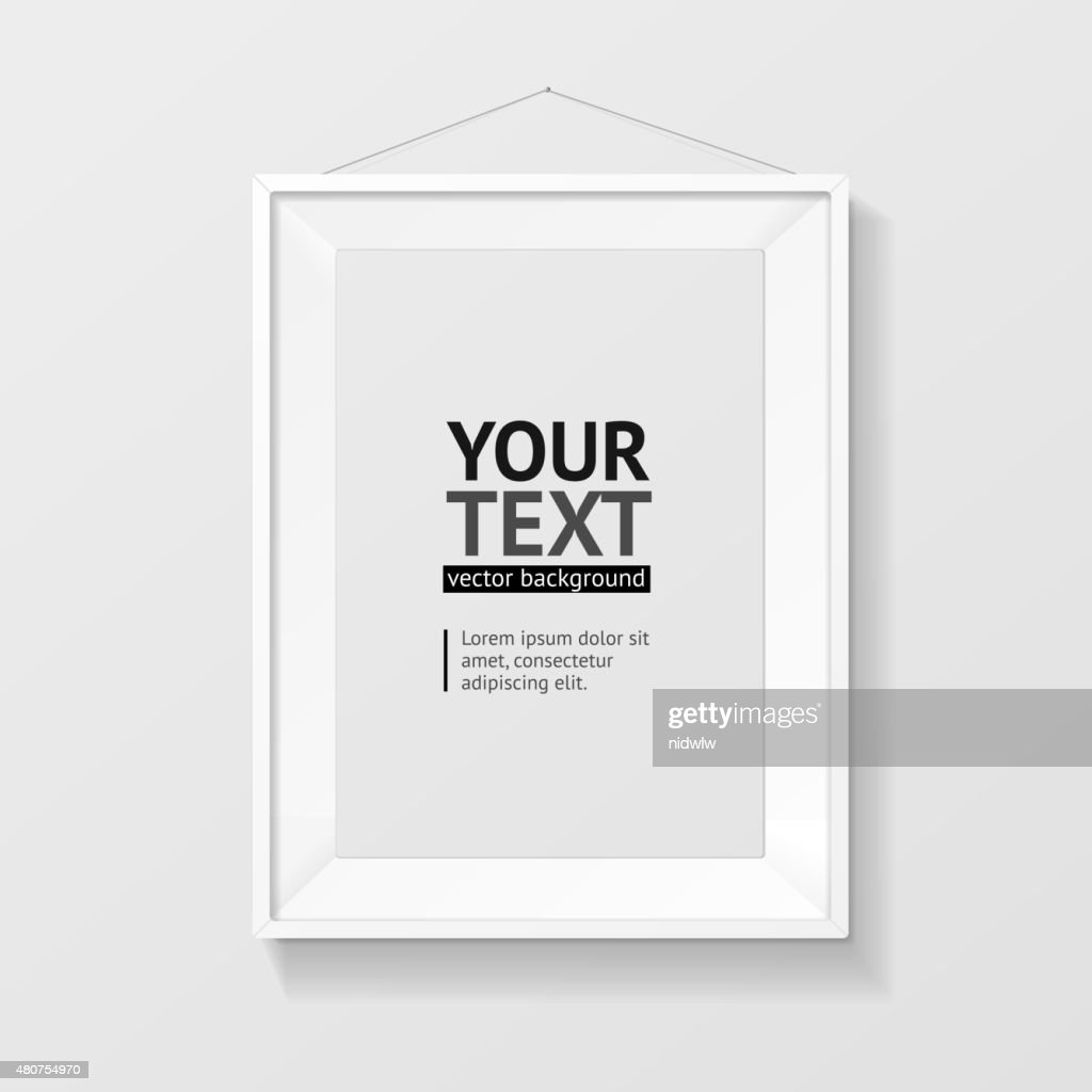 Vector picture frame vector A4 white