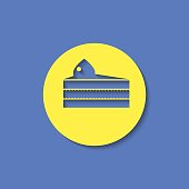Vector piece of cake icon. Food icon. Eps10