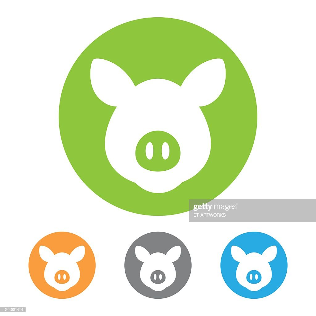 Vector pig icon : stock illustration