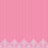 Vector pink frame/border in damask baroque style