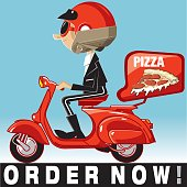 Vector pizza delivery