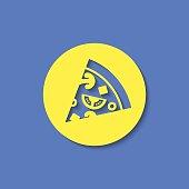 Vector pizza icon. Food icon. Eps10