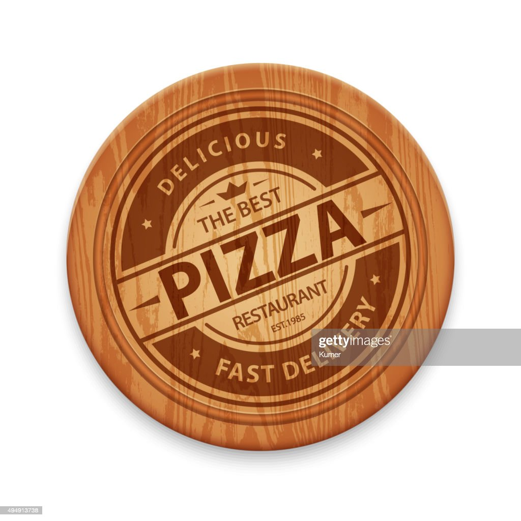 Vector pizza restaurant label