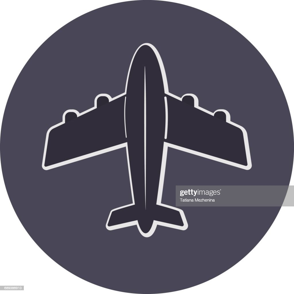 Vector plane icon top view