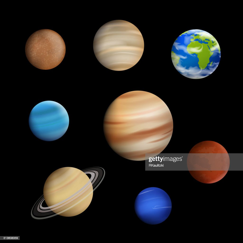 Vector Planets in the Solar System