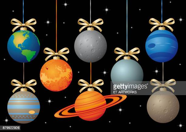Vector planets of the solar system