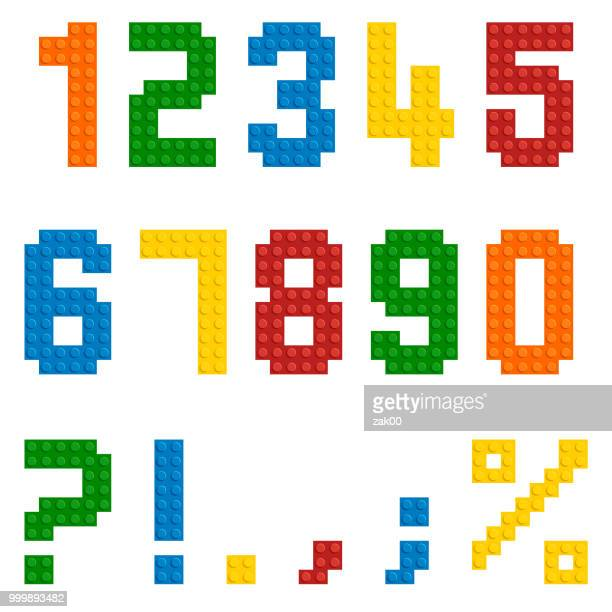 Vector plastic toy numbers