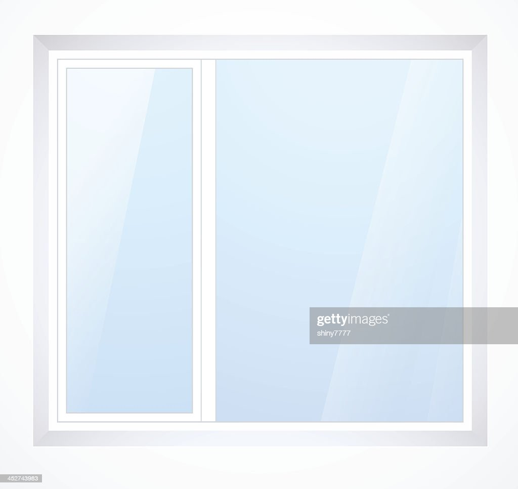 Vector plastic window with white frame