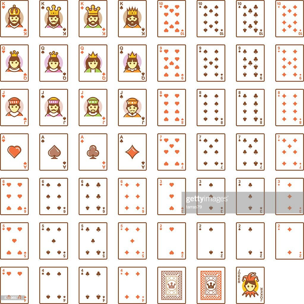 Vector playing cards set : Vector Art