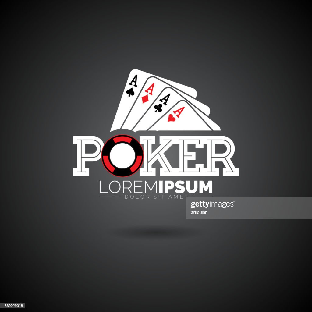 Vector Poker Design Template with gambling elements.