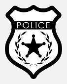 Vector Police Badge Isolated Illustration