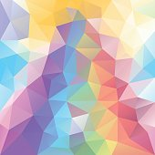 vector polygon background with a triangle pattern in rainbow color