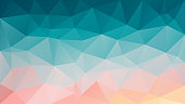 vector polygon rectangle background triangle pattern in blue pink color