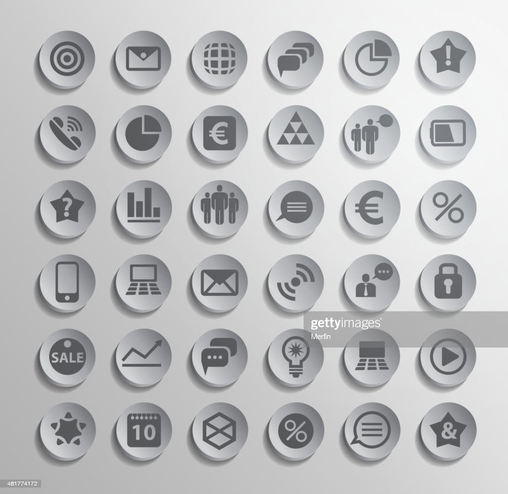 Vector Polygonal Modern Icons stock illustration - Getty Images