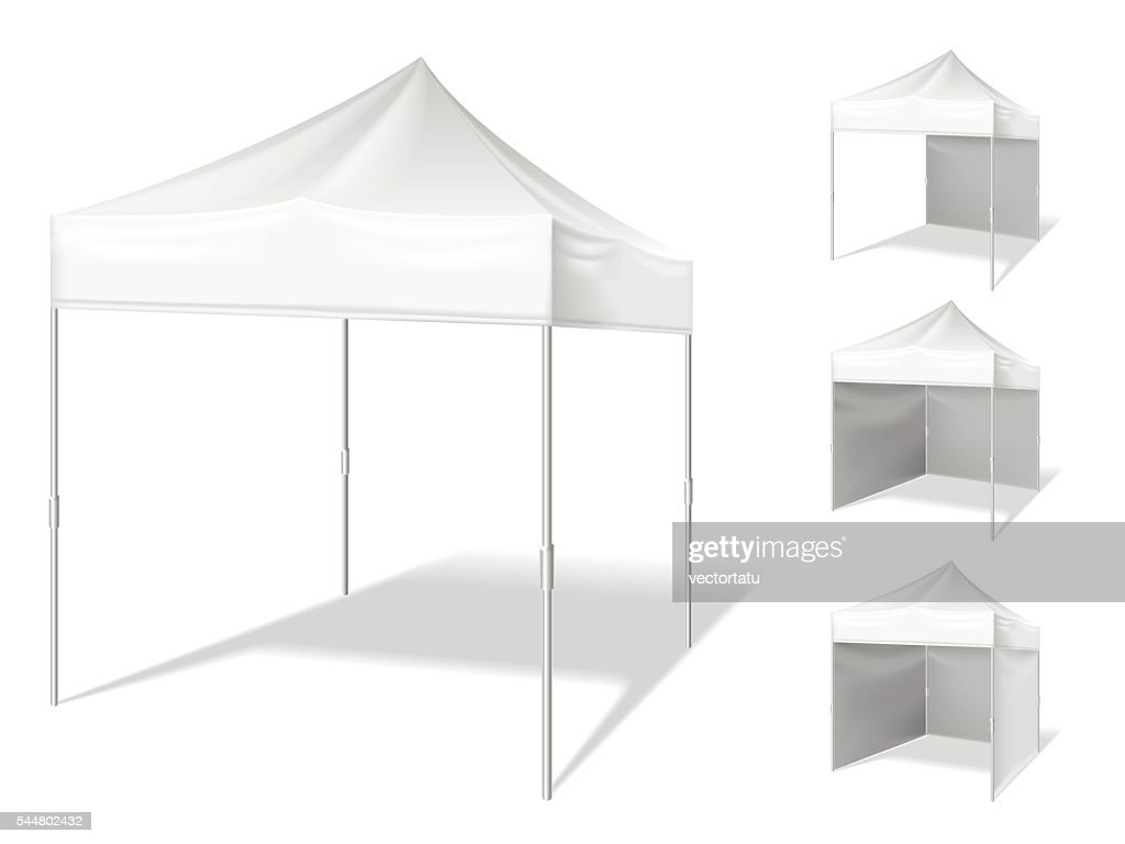Vector pop up tent for outdoor event