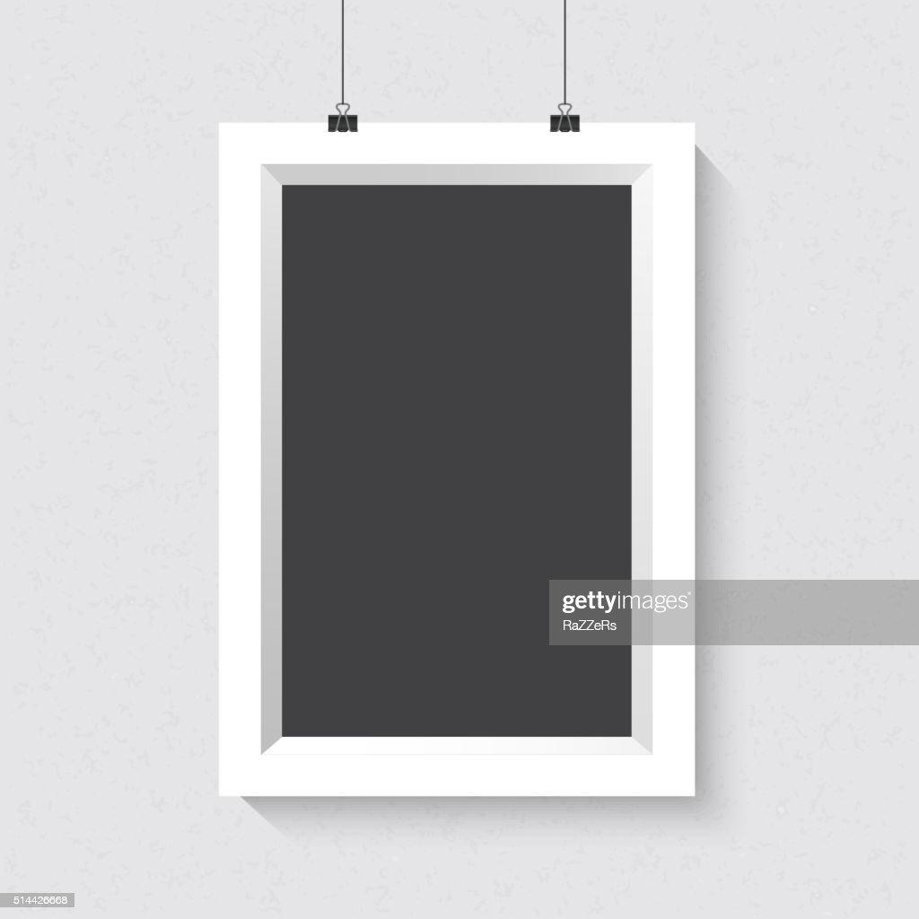 7be6998445ab Vector Portrait Dark Frame Mockup. Realistic Vector EPS10 Dark F   stock  vector