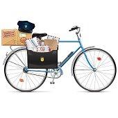 Vector Postal Bicycle
