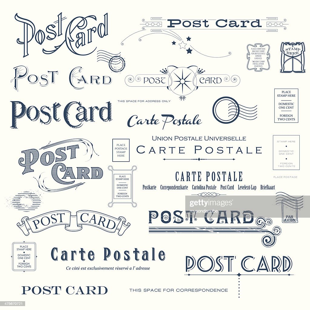 Vector Postcard Design Elements