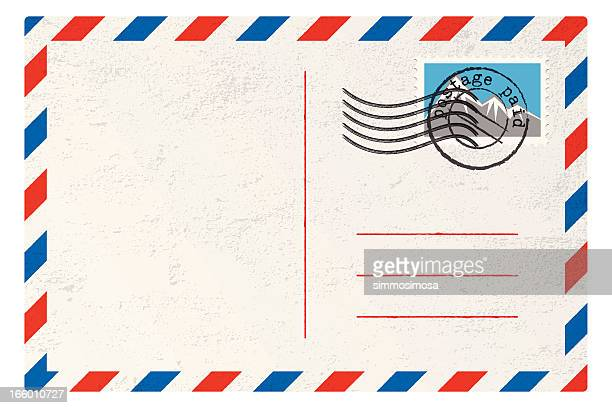 vector postcard - message stock illustrations