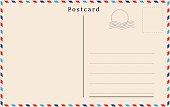Vector postcard with beige paper texture