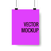 Vector poster with binders
