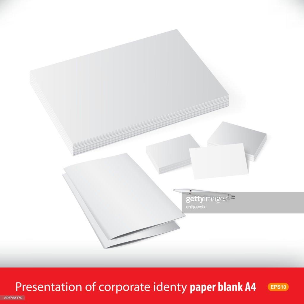 Vector presentation template corporate identity