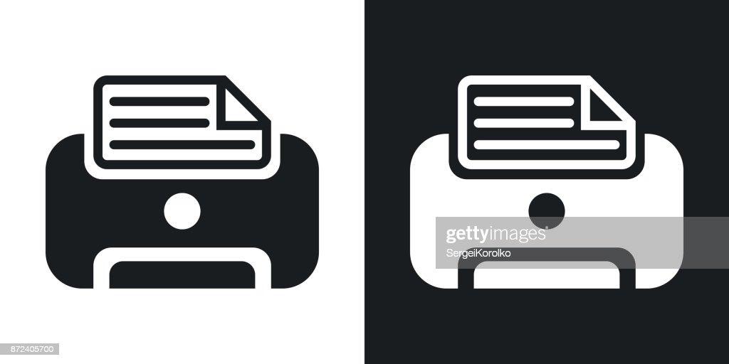 Vector printer icon. Two-tone version