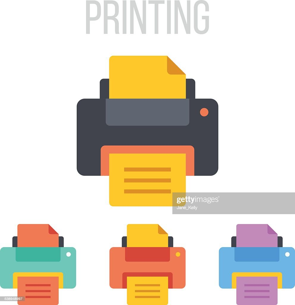 Vector printer icons