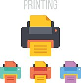 Vector printer icons