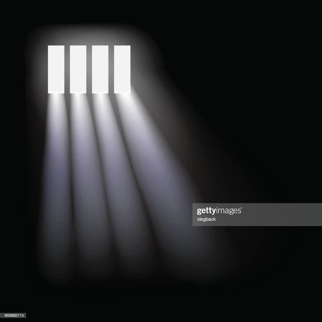 Vector prison window background.